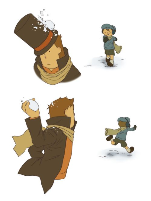 Professor Layton and Luke. This is adorable!!