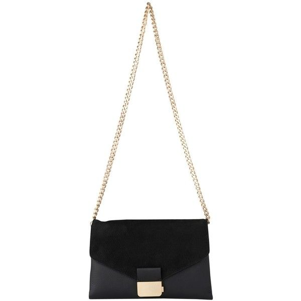 Whistles Artesia Leather Presslock Clutch Bag, Black (€175) ❤ liked on Polyvore featuring bags, handbags, clutches, genuine leather purse, evening hand bags, over the shoulder purse, man bag and fold-over clutches
