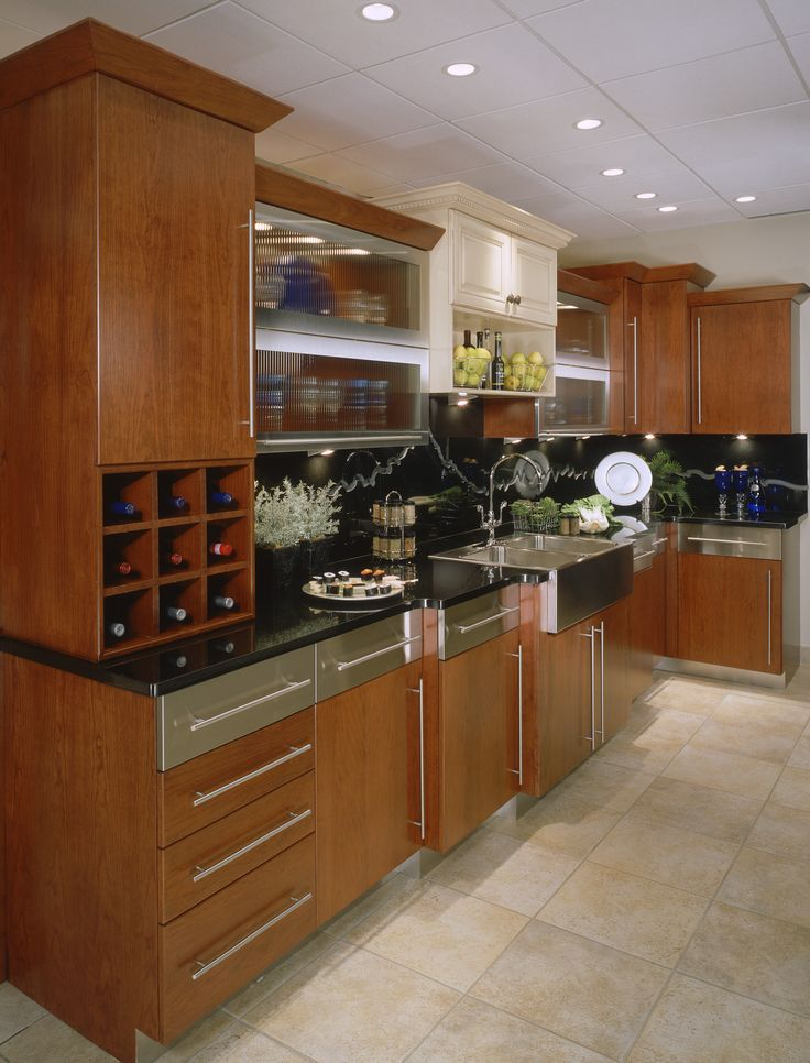 This Kitchen Is A Stunning Combination Of Modern Design, Various Materials  And Just A Hint. Custom CabinetsKitchen ...