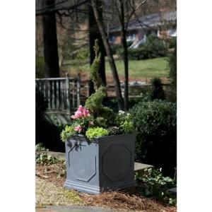 Central Garden and Pet, 18 in. Fiberglass Square Planter, 100511814 at The Home Depot - Mobile