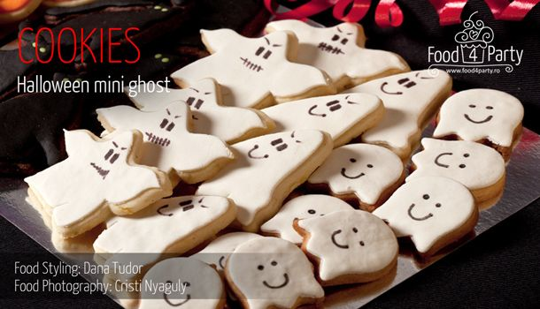 Biscuiti Mini Gost de Halloween | food4party