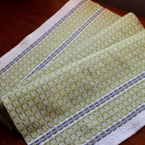 Handwoven Towel Dish Chef Hand Woven Kitchen Cotton Linen Off