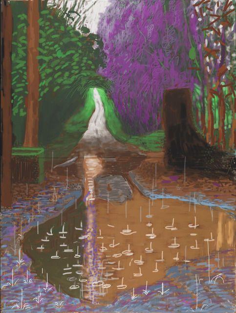 David Hockney. The Arrival of Spring in Woldgate, East Yorkshire in 2011 (twenty eleven) - 18 December. iPad drawing.