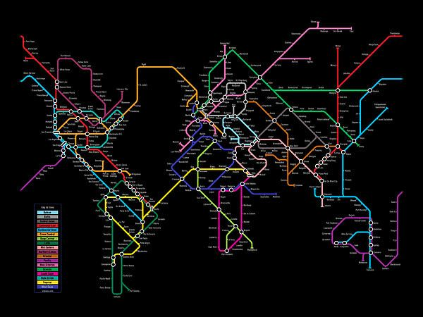 23 best subway maps images on pinterest subway map maps and cards world metro map by michael tompsett gumiabroncs Image collections