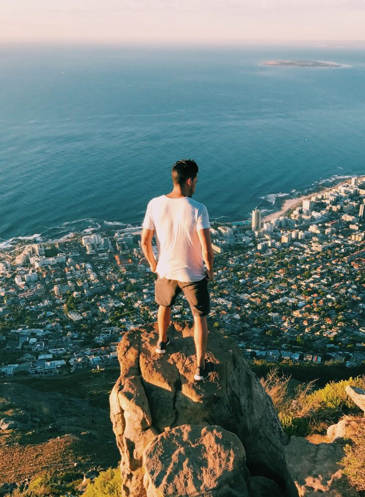 """Feeling on top of the world!"" by Tom Kennedy  Location: Table Mountain National Park"