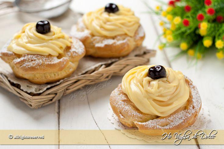 Zeppole al forno di San Giuseppe, ricetta e variante più leggera, senza friggere alle tradizionali. Il dolce tipico per il 19 marzo e la festa del papà.