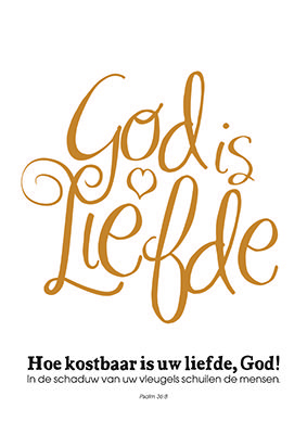 Enjoy poster - God is liefde -
