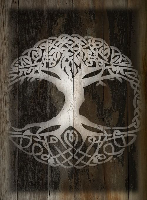 yggdrasil the norse world tree viking pinterest awesome tattoos moon wedding and open. Black Bedroom Furniture Sets. Home Design Ideas