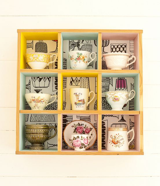 Kitchen display - I'm always trying to think of how to creatively display my mug collection.