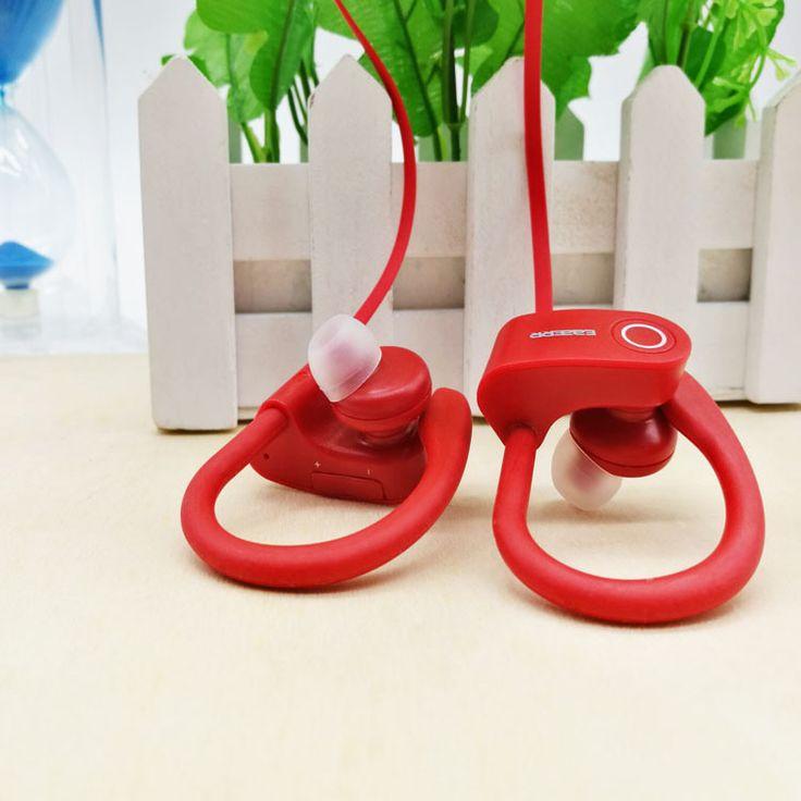 Wireless Bluetooth Headset Bluetooth 4.1 Stereo Music Headset Universal Ear Hook Anti-Sweat Headset HD Call Headphones & Mic