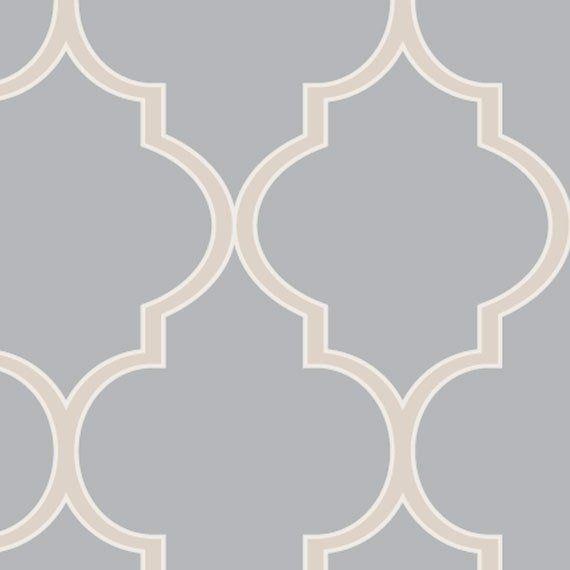 Moroccan Cool Light Grey Peel Stick Fabric Wallpaper Etsy Peel And Stick Wallpaper Moroccan Wallpaper Wallpaper Panels