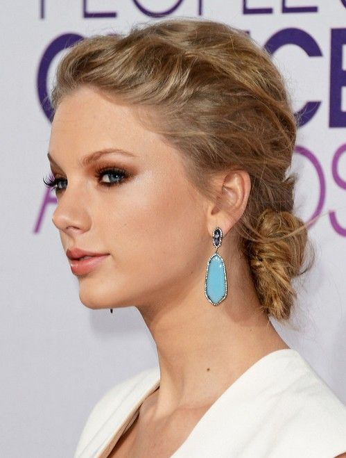 Taylor Swift Hairstyles: Slicked-back Updo