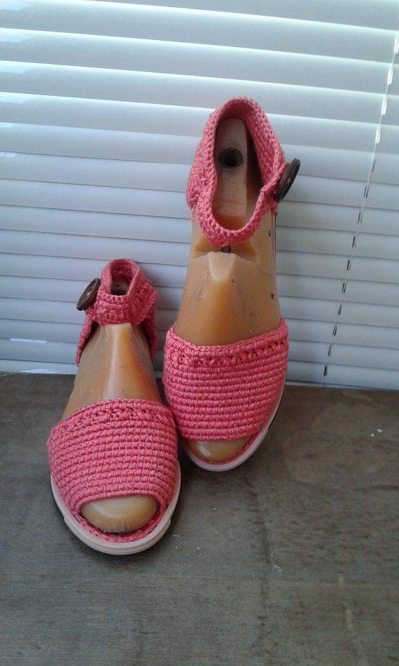 <b>Women's sandals</b>, Crochet <b>footwear</b>, Coral, <b>summer fashion</b> ...
