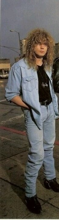 Rick Savage in double denim.... Oh how times change