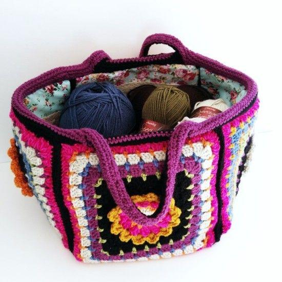 Crochet Granny Square Bag Free Pattern