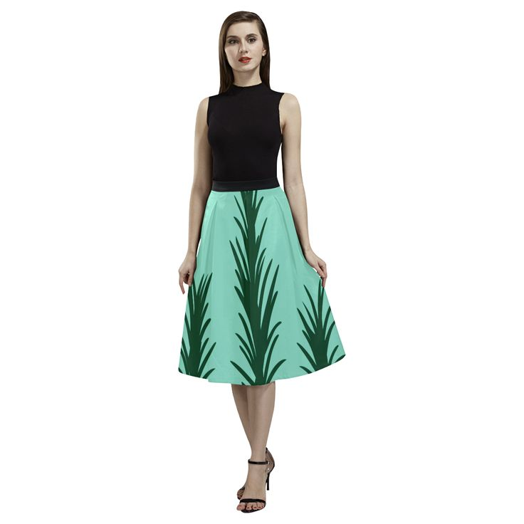 Designers skirt : Rosemary exclusive art Edition Aoede Crepe Skirt(Model D16).
