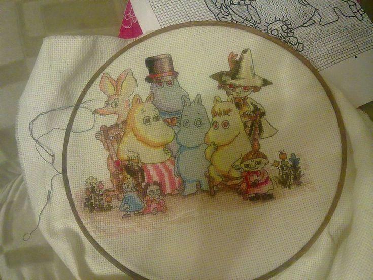 Moomins   cross-stitching