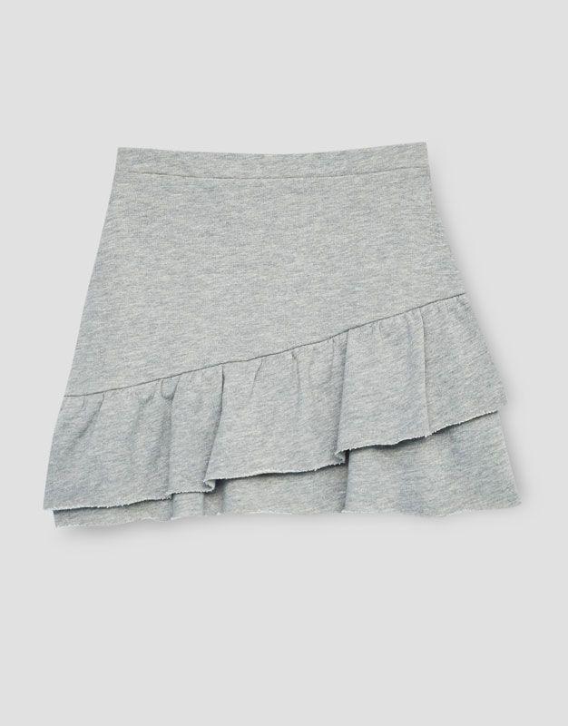 Jupe à volant - Jupes - Vêtements - Femme - PULL&BEAR France