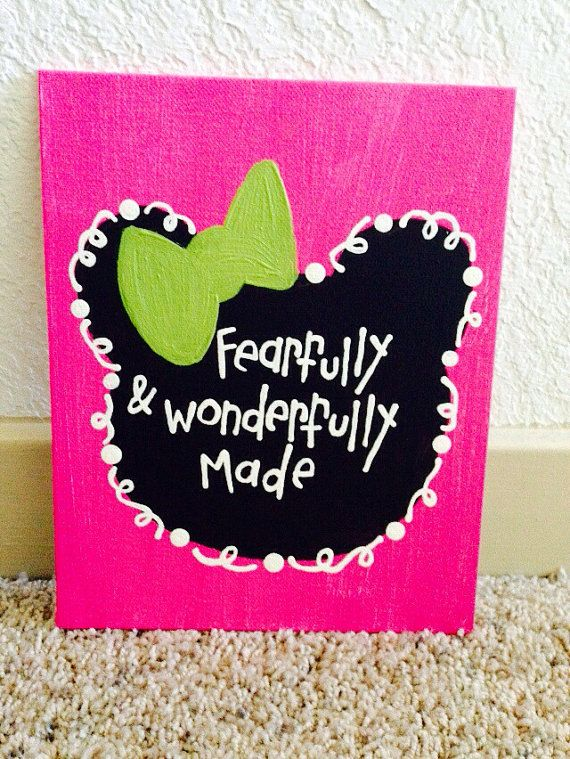 fearfully & wonderfully made Canvas by paintedhartstrings on Etsy