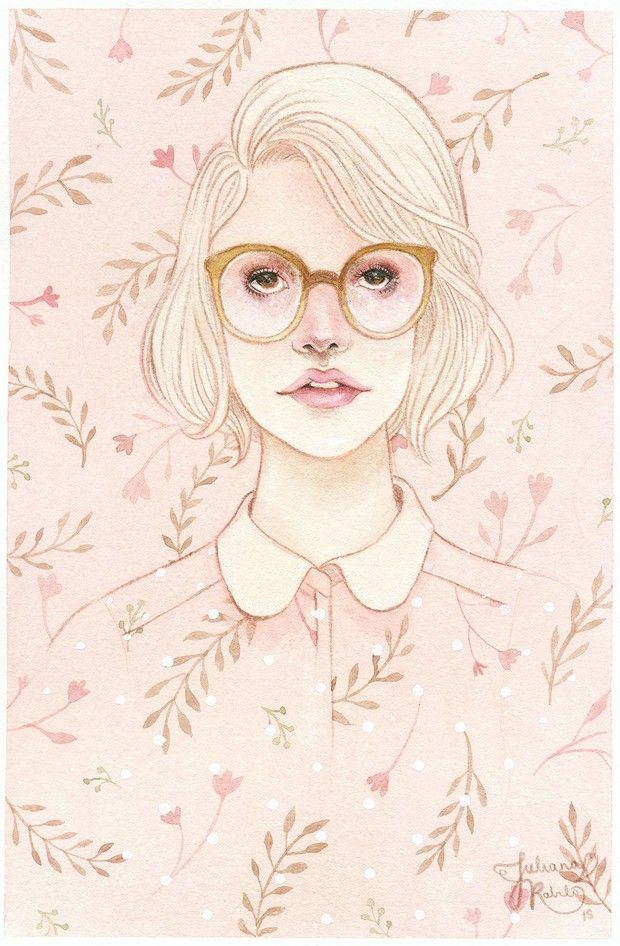Juliana Rabelo cria ilustrações em aquarela que transbordam sensibilidade e…