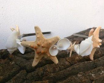 Corona de la boda de playa estrellas de mar de accesorios del