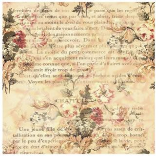 Floral on printed text background