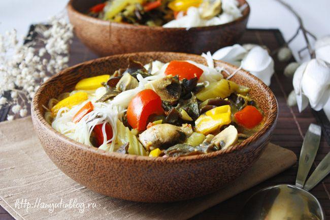 Овощное карри, невероятно вкусное. Рецепт из кулинарного мастер-класса. Пошаговые фотки. #curry, #food