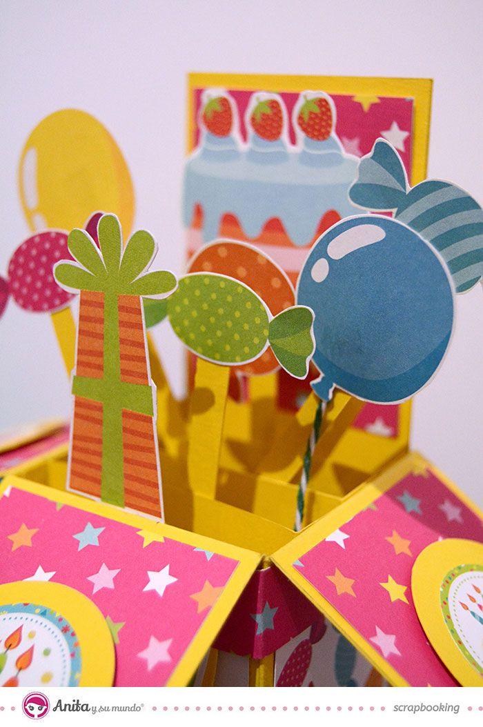 Las 25 mejores ideas sobre tarjetas pop up en pinterest y - Preparar fiesta cumpleanos ...