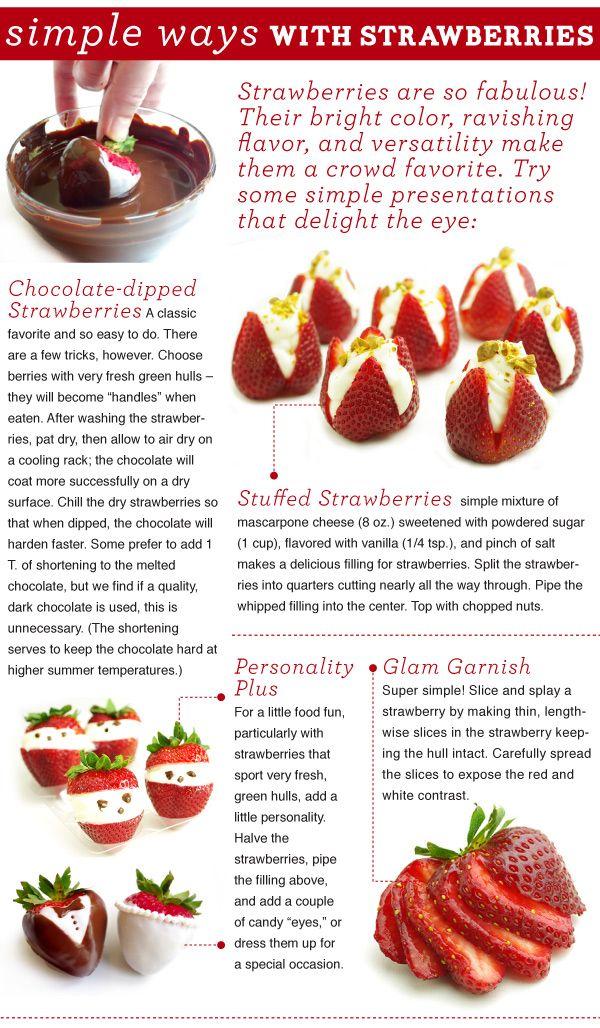 presentation tips for using strawberries