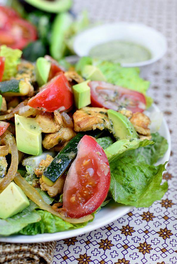 Chicken Fajita Sizzling Salad