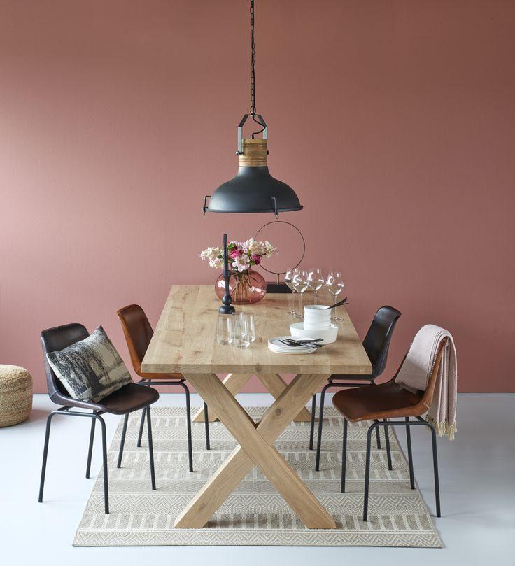 Woonexpress   tafel SLIEDRECHT stel je zelf samen   stoel GOUWE   lamp KYONY   Alles voor jouw eetkamer