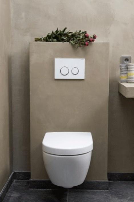 Prachtige betonlook toiletruimte Door betonlookdesign
