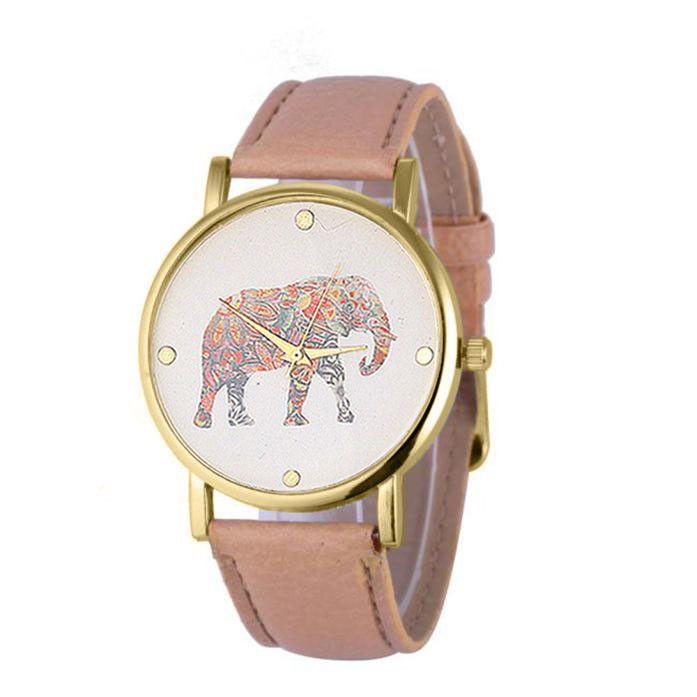 Ladies Watch Elephant Print //Price: $14.99 & FREE Shipping //     #elephantsofinstagram