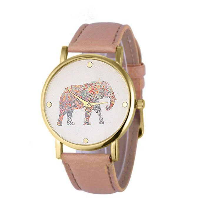 Ladies Watch Elephant Print //Price: $14.99 & FREE Shipping //     #elephantsofinstagram