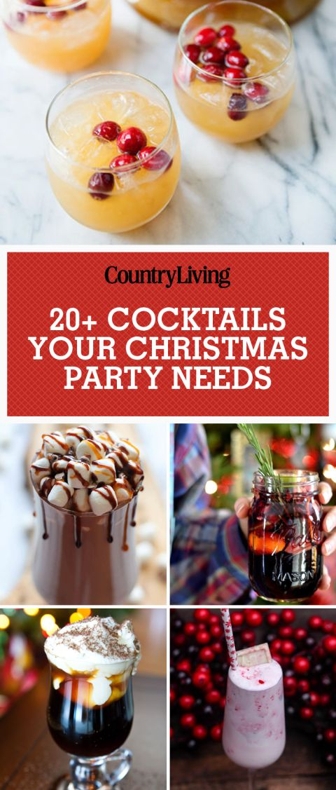 Celebrate Christmas with these delicious cocktail recipes. Your guests will love drinking winter sangria in a mason jar at your next holiday party. End the night with Kahlua Hot Chocolate for dessert!