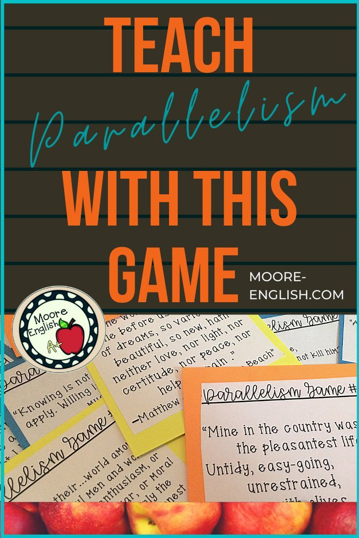 Parallelism Parallel Structure Game 24 Cards And 3 Games Teaching Teaching Vocabulary Middle School English Teacher [ 1102 x 735 Pixel ]