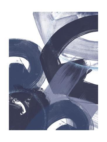 Blue on Blue II Print by June Vess - AllPosters.co.uk