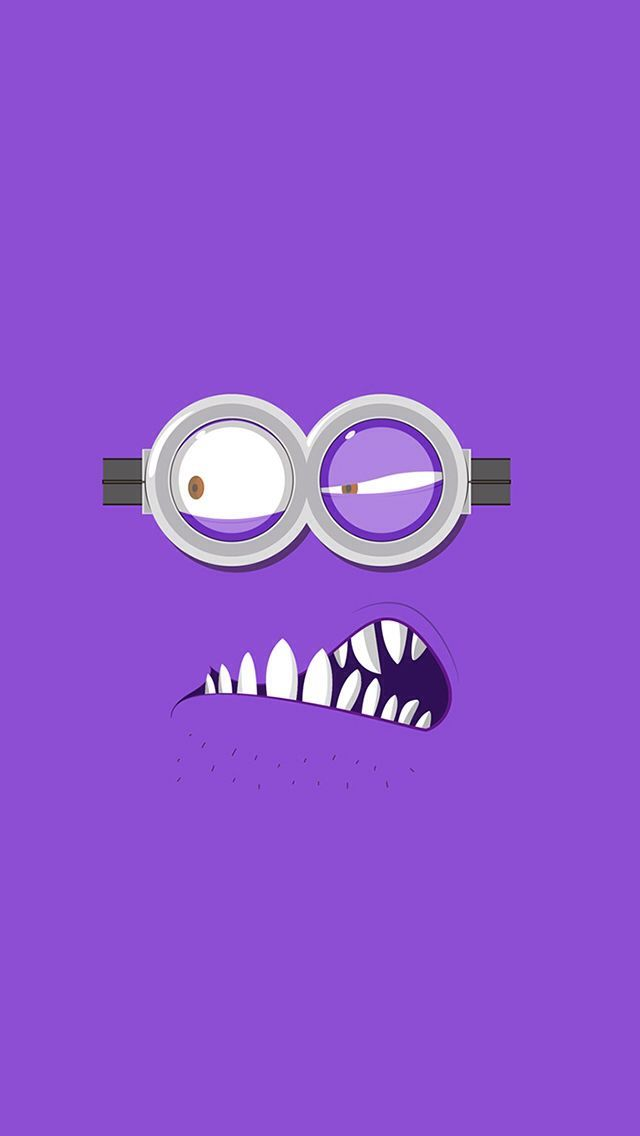 Tap image for more funny minion iPhone wallpaper! Despicable Me Evil Purple Minion - @mobile9 | Wallpapers for iPhone 5/5S, iPhone 6 & 6 Plus