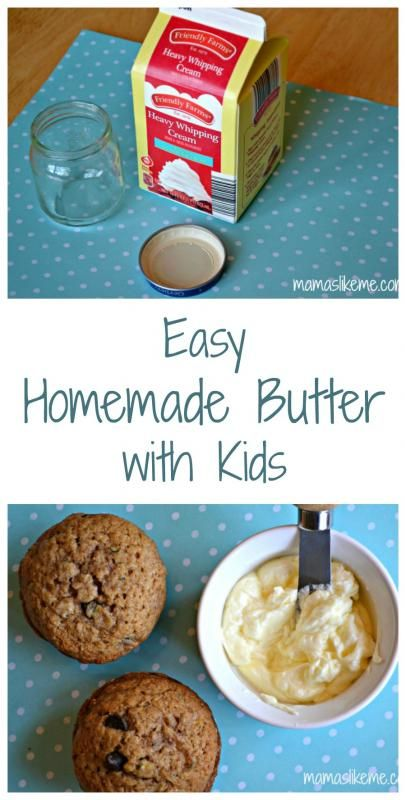 Easy Homemade Butter with Kids - For Harvest Feast!