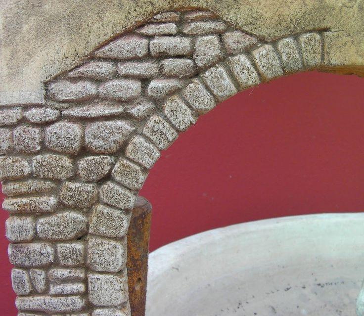 M s de 25 ideas incre bles sobre paredes de pintura de - Imitacion piedra pared ...