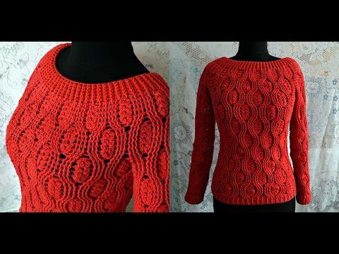 Crochet Long Sleeve Sweater – Design Peak