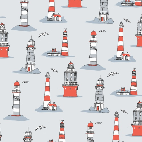 Julia Rothman - Lavender. This wall paper styled illustration work utilises a heavy repeated pattern. Using a simple colour pallet to create a sense of unity and harmony among the lighthouses. Lacking in a direct focal point, i think the consistency of the work creates a calming feeling. Without that repeated sense of rhythm the work wouldn't be as alluring or calming.
