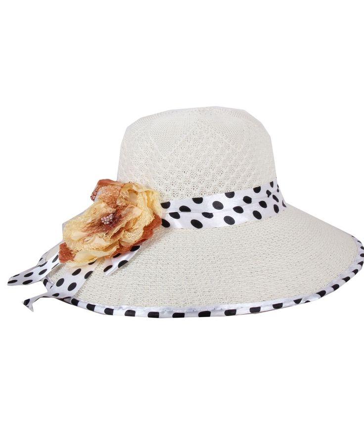 Jstarmart White Polyester Fidora Hat For Women