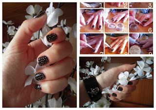 Studded nails tutorial #unghie #nails #tutorial #borchie #studded
