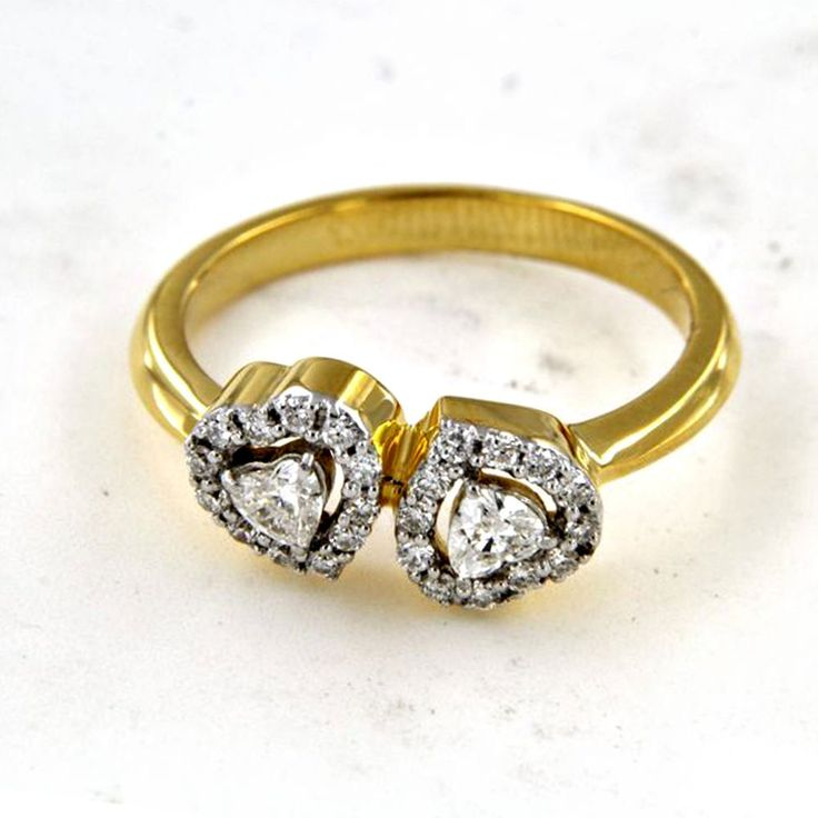 29 best Double Heart Ring images on Pinterest