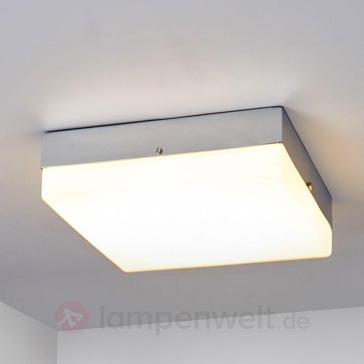 Eckige LED-Deckenlampe Ismail fürs Bad sicher & bequem online bestellen bei Lampenwelt.de.