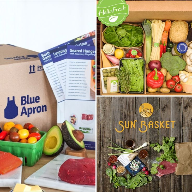 Comparison of Blue Apron vs Hello Fresh vs Sun Basket.  Plus get your FREE Meals.    Try out each meal delivery with their special offers and let us know what you think.