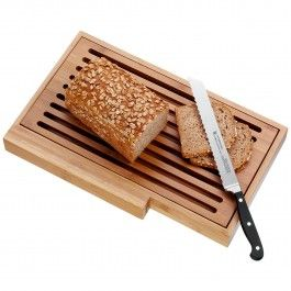 This beautiful 3 piece bread knife, cutting board and serving tray set will soon become one of your kitchen and gift giving favorites. Ideal for everyday use and entertaining, this set will look stunning on your kitchen counter. WMF operates one of the largest German blade forges in Hayingen (Baden-W?rttemberg). Every year, hundreds of thousands of knives are manufactured according to a traditional forging method, blending old world hand craftsmanship with modern technology. The knives are…