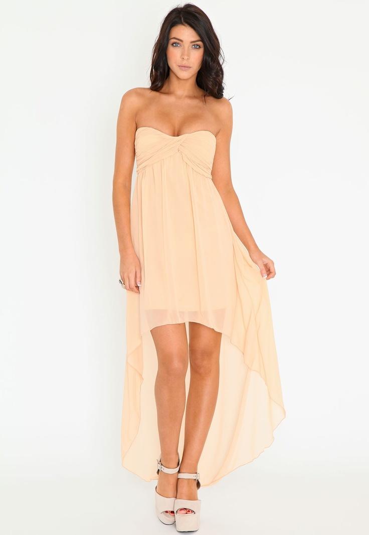 Missguided - Sherry Gathered Chiffon Look Asymmetric Dress