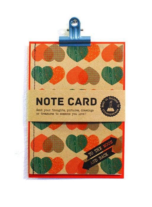 Note Card handmade kraft paper notecard with envelope by Kadolab, €4.50